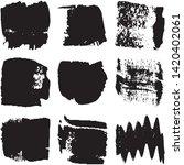 vector dry brush stroke grunge. ...   Shutterstock .eps vector #1420402061
