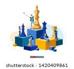 trendy flat illustration.... | Shutterstock .eps vector #1420409861