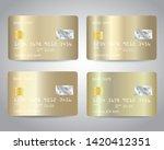 gold credit cards vector set... | Shutterstock .eps vector #1420412351