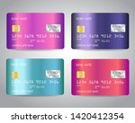 credit cards vector set with... | Shutterstock .eps vector #1420412354