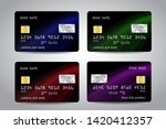 credit cards vector set with... | Shutterstock .eps vector #1420412357