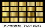 gold metallic  bronze  silver ... | Shutterstock .eps vector #1420415261