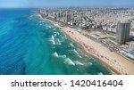 Beach Strip Of Bat Yam Israel