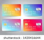 credit cards vector set with... | Shutterstock .eps vector #1420416644