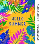 summer vector illustration with ... | Shutterstock .eps vector #1420419047