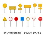 traffic road realistic signs.... | Shutterstock .eps vector #1420419761