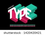 isometric 3d font design  three ... | Shutterstock .eps vector #1420420421