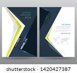 template annual report brochure ... | Shutterstock .eps vector #1420427387