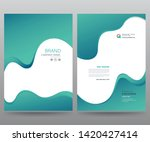 template annual report brochure ... | Shutterstock .eps vector #1420427414