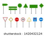 traffic road realistic signs.... | Shutterstock .eps vector #1420432124