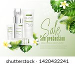 a beautiful cosmetic templates... | Shutterstock .eps vector #1420432241