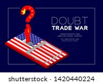 man pictogram and question mark ... | Shutterstock .eps vector #1420440224