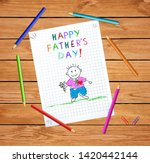 happy father day baby hand... | Shutterstock .eps vector #1420442144