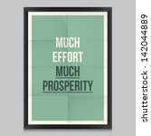 work quote poster by euripides... | Shutterstock .eps vector #142044889