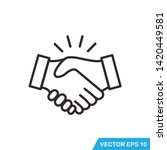 handshake icon vector design ... | Shutterstock .eps vector #1420449581