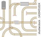 railway elements parts seamless ... | Shutterstock .eps vector #1420451024