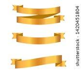 gold ribbon collection. golden...   Shutterstock .eps vector #1420451804