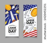 happy labor day construction... | Shutterstock .eps vector #1420452251