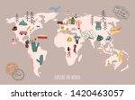 travel map. explore the world.... | Shutterstock .eps vector #1420463057