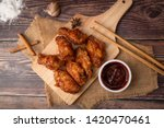 hot and spicy korean barbeque... | Shutterstock . vector #1420470461