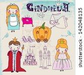 cinderella fairytale characters ...   Shutterstock .eps vector #142048135