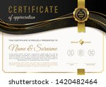 certificate template with... | Shutterstock .eps vector #1420482464
