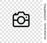photo camera icon from... | Shutterstock .eps vector #1420489961