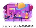 futuristic classroom  little...   Shutterstock .eps vector #1420494737