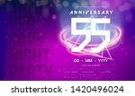 55 years anniversary logo... | Shutterstock .eps vector #1420496024