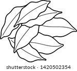 whole dry bay leaves. vector... | Shutterstock .eps vector #1420502354