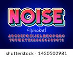 colorful 3d display font design ... | Shutterstock .eps vector #1420502981