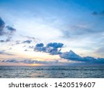 blue sky with clouds and sea ... | Shutterstock . vector #1420519607