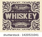 vintage label with gin liquor... | Shutterstock .eps vector #1420521041