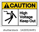 caution high voltage keep out...   Shutterstock .eps vector #1420524491