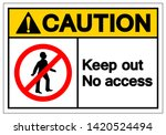 caution keep out no access...   Shutterstock .eps vector #1420524494