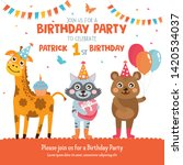 birthday party greeting card... | Shutterstock .eps vector #1420534037