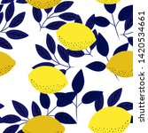 tropical seamless pattern with... | Shutterstock .eps vector #1420534661
