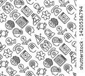 psychologist seamless pattern... | Shutterstock .eps vector #1420536794
