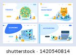 set of landing page template... | Shutterstock .eps vector #1420540814