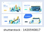 set of landing page template... | Shutterstock .eps vector #1420540817