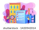 architectural project approval  ... | Shutterstock .eps vector #1420542014