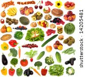 large page of food assortment... | Shutterstock . vector #14205481