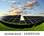 solar energy panels in the... | Shutterstock . vector #142055134