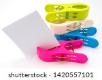 Large color paper clips with...