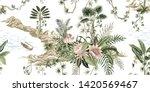 tropical vintage botanical... | Shutterstock .eps vector #1420569467
