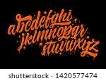 decorative liquid orange abc... | Shutterstock .eps vector #1420577474