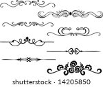 simple ornaments   Shutterstock .eps vector #14205850
