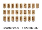 a set of twenty four runes and... | Shutterstock .eps vector #1420602287