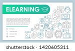 e learning banner  business...