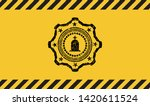 tombstone icon grunge warning... | Shutterstock .eps vector #1420611524